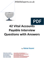 Accounts payable interview questions