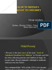 Lack of Nutritoin breakfast in children -Advocacy  powerpoint