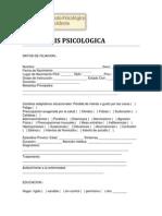 ANAMNESIS PSICOLOGICA