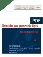 [SAYÃO] Metadados para Preservação Digital