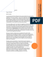 Job Packet Cover Letter