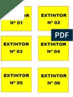 Identificação de Extintores