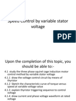 4Speed Control by Variable Stator Voltage
