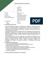 PROGRAMACIÓN ANUAL DE MATEMÁTICA QUINTO