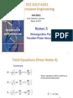 Notes 5 - Waveguides Part 2 Parallel Plate