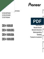 Deh-1600ubg Manual Nl en Fr de It Ru Es