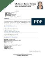 CURRICULUM Lana Rafaela Dos Santos Mendes