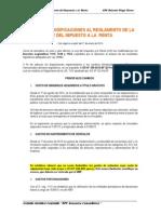Recientes Modificaciones Al Reglamento de La Ley Del Impuesto a La