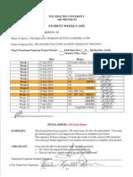 student weekly log