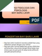 Adaptasi Fisiologis Dan Psikologis Bayi Baru Lahir