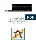 Proceedings of Regional Policy Dialogue on Pro-poor Housing Finance