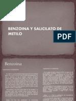 Benzoina y Salicilato de Metilo Mar