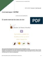 El Aceite Esencial de Clavo de Olor _ Aromaterapia Familiar