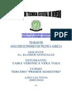 Analisis Econoica de Politica Agricola