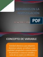 8. LAS VARIABLES EN LA INVESTIGACIÓN - 8