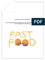 Evaluation Report_fast Food - Chennai