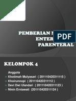 PEMBERIAN NUTRISI Parenteral dan Enteral.pptx
