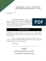 95.10- Ação desaposentação- Modelo de Recurso Especial – Acordão Desprovido