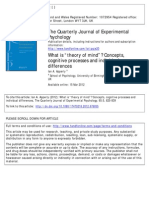"""Apperly 2012What is """"theory of mind""""? Concepts, cognitive processes and individual differences"""