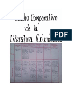 Cuadro Comparativo de La Literatura Colombiana