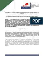 Reglamento se construcciones del estado de Tabasco