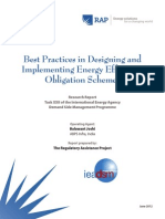 Best Practices in Designing and Implementing Energy Efficiency Obligation Schemes