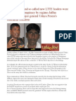 Tamil Soldier and So Called New LTTE Leaders Were Murdered in Conspiracy by Regime-Jaffna Commander Major General Udaya Perera's Statement Confirms