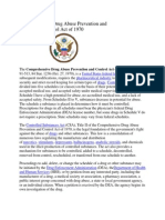 Comprehensive Drug Abuse Prevention and Control Act of 1970.docx