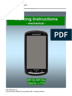 Sonyericsson Xperia Pro Mk16i Working Instructions