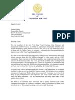 Council LGBT Caucus Letter Re Pinter vs NYC