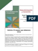 Descolonización y transición de Raúl Prada Alcoreza