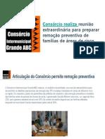 Consorcio Realiza reunião extraordinária para preparar remoção preventiva de famílias de áreas de risco