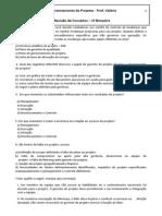 Gerenciamento Projeto - Questionario EAP