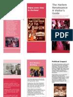 Harlem Renaissance Brochure