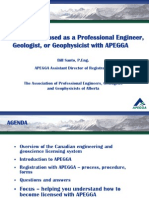 APEGGA Licensure Talk - CPEG 2011