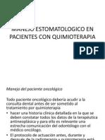 Manejo en pX Con Quimio
