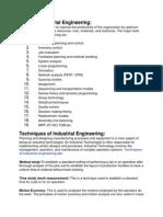 Tools of Industrial Engineering