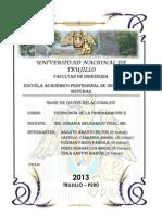 Informe de Base de Datos Relacionales 1era Unidad