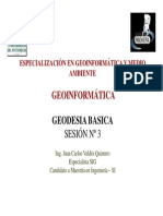 U de a SIG SESION 3 Geodesia Basica