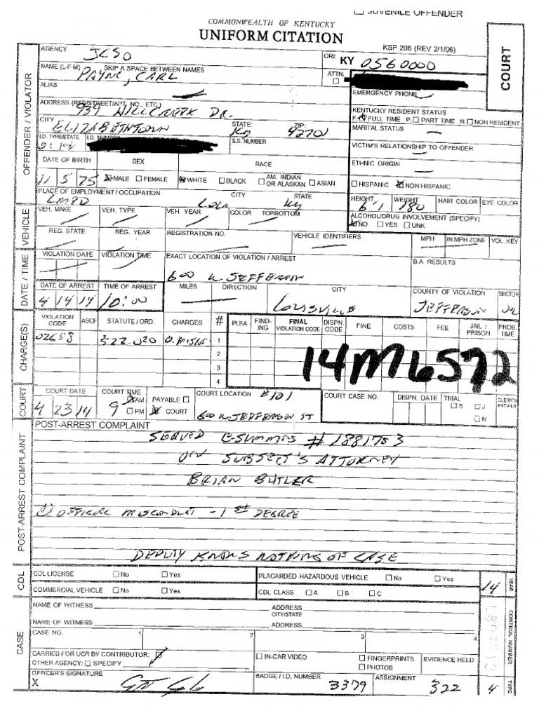 Carl Payne complaint