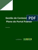 Gestão de Conteúdo em Plone do Portal Padrão