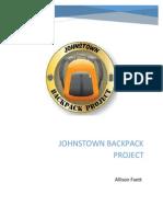 johnstown backpack project pr plan