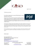 letter for tiffani kendall