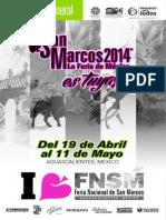 Programa General de La Feria Nacional de San Marcos 2014
