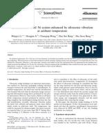 Interdiffusion of Al-Ni System Enhanced by Ultrasonic Vibration at Ambient Temperature