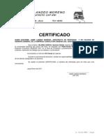 Modelo Certificado de Practicas Pre Profesionales