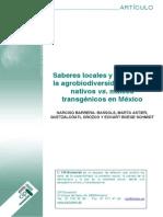 Saberes Locales y Defensa de La Agrodiversidad_N.barrERA ET AL