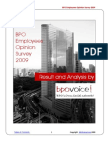 BPO Employees Opinion Survey 2009
