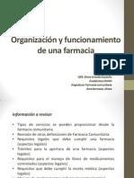 Organización y funcionamiento de una farmacia 2014