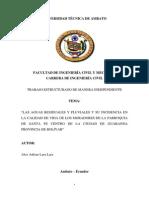 Estudio de recolección de aguas residuales y su incidencia en la calidad de vida de la parroquia de santa fe de la ciudad de guaranda